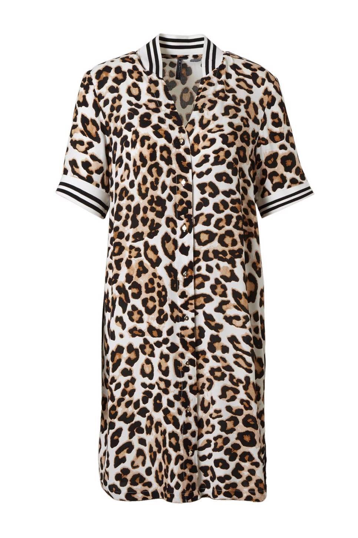 6914e47f2abe5a FREEQUENT Leoni blousejurk met dierenprint