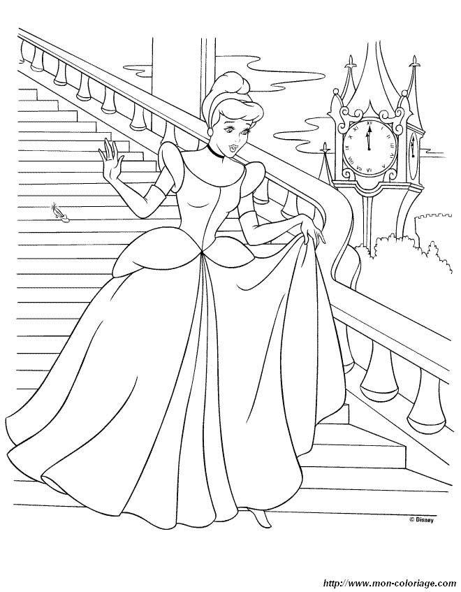 Prinzessin Cinderella Ausmalbilder Malvorlagen Für Kinder