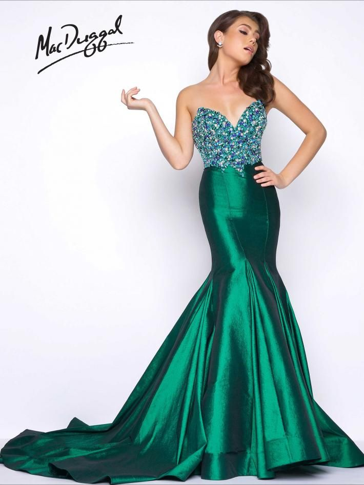 62660M | Mac Duggal #SS17 #prom2017 #red or #emerald available ...