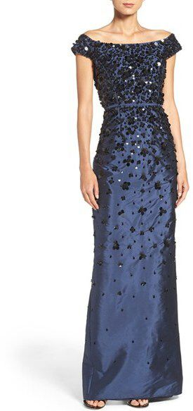 Women's Adrianna Papell Embellished Off The Shoulder ...