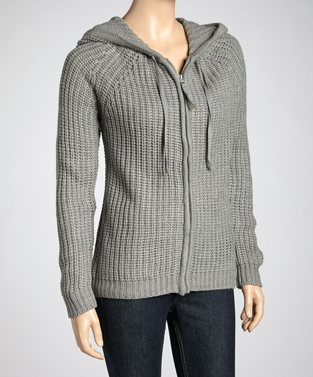 Heather Gray Zipper Hoodie | Daily deals for moms, babies and kids