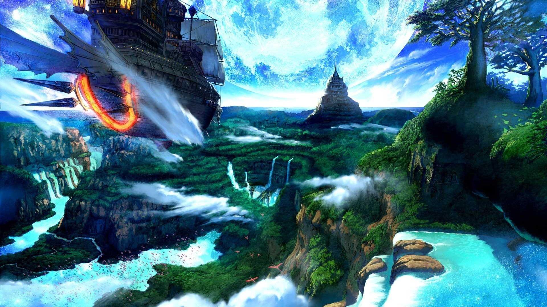 computergrafik landschaften | Fantasy - Landschaft ...
