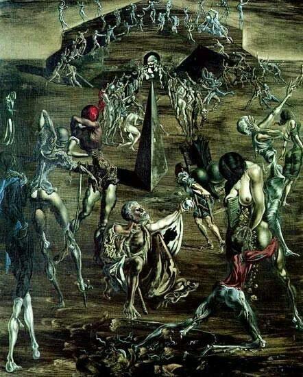 "Salvador Dali ""resurrection of the flesh"""
