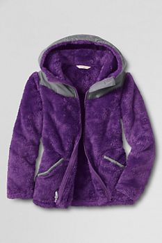 Girls' Softest Fleece Jacket from Lands' End | Girls | Pinterest ...