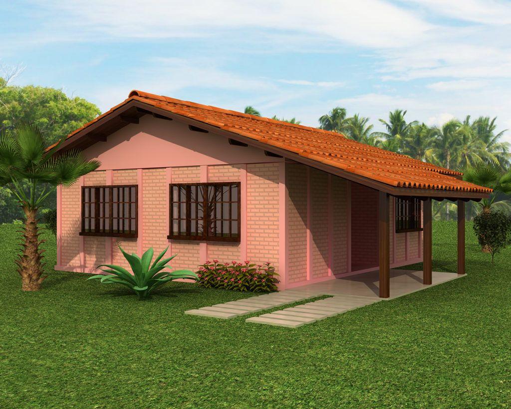 Casa Pré Fabricada Em Concreto De 63 Módulos Com Abrigo