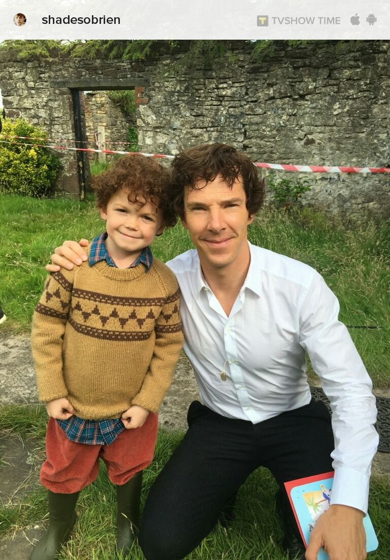 Pictures of Benedict with kids will have my death