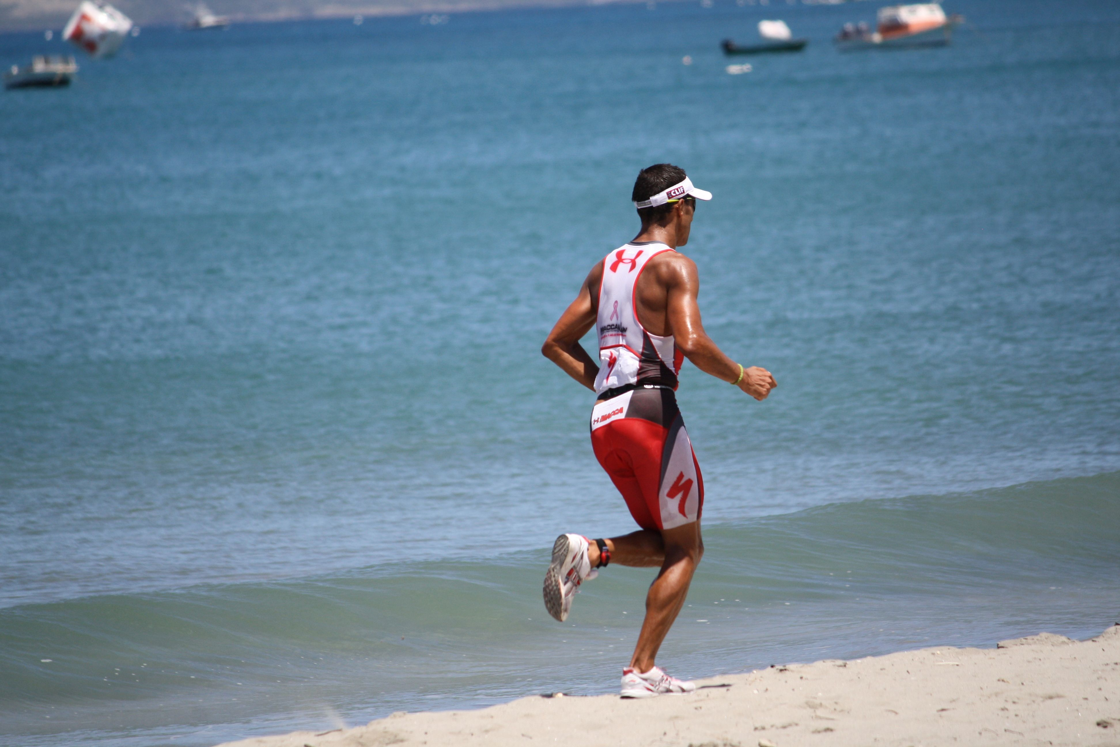 Chris Macca Mccormack Running On Gallows Bay Nevis