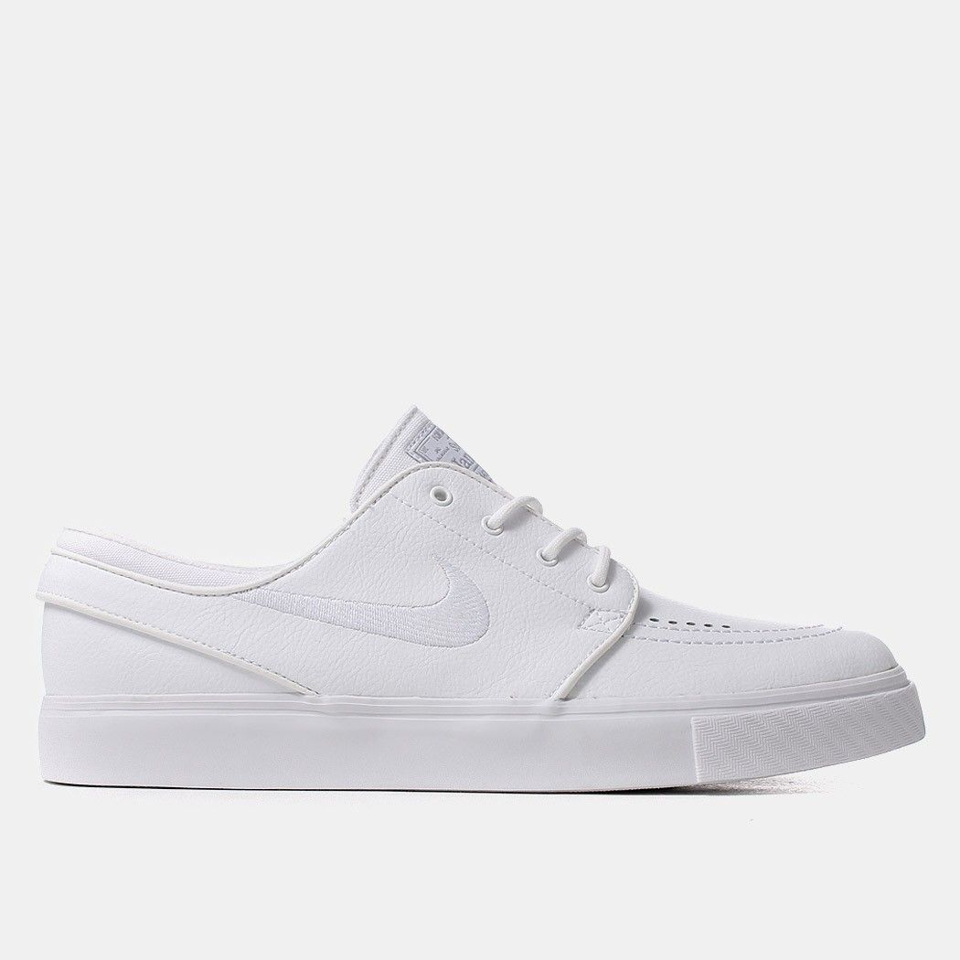 e6e1d2100ac6 Nike SB Zoom Stefan Janoski Leather Shoes - White Wolf Grey