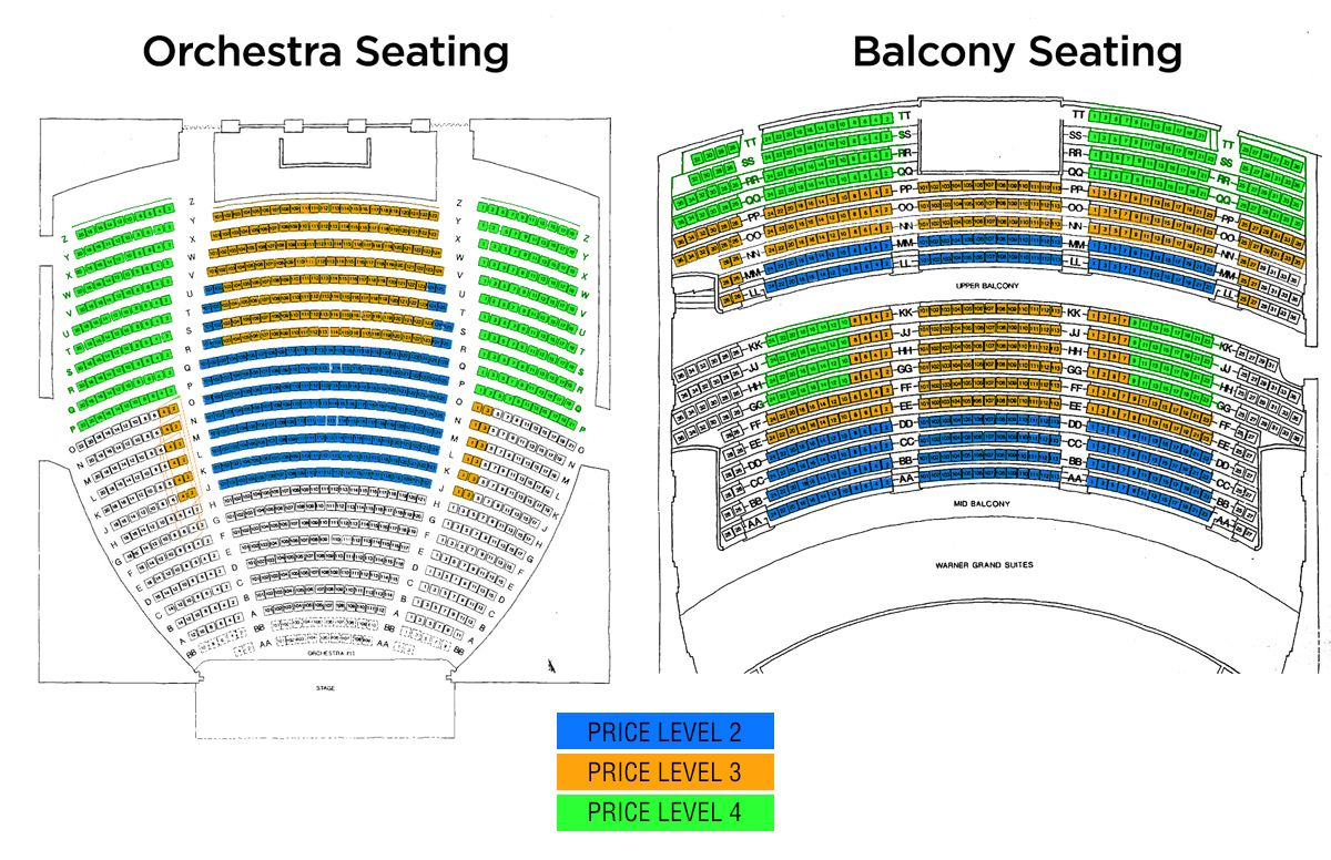 Seating Charts Chart Theater Seating