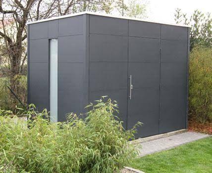 Modernes Gerätehaus aus HPLPlatten Bild 4 (mit Bildern