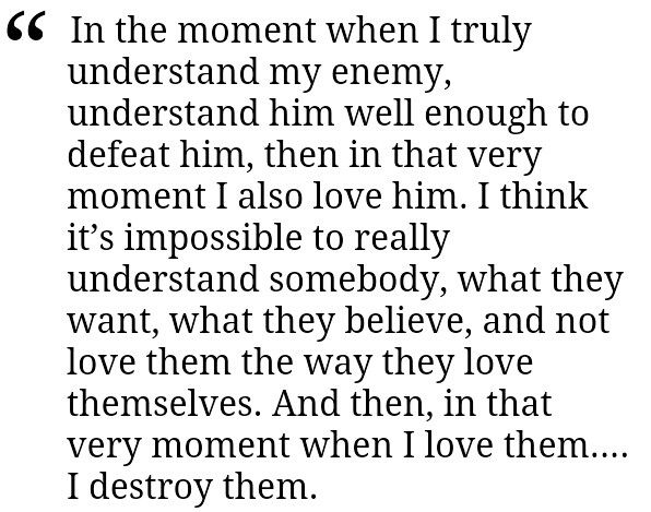 And Then In That Very Moment When I Love Them I Destroy Them
