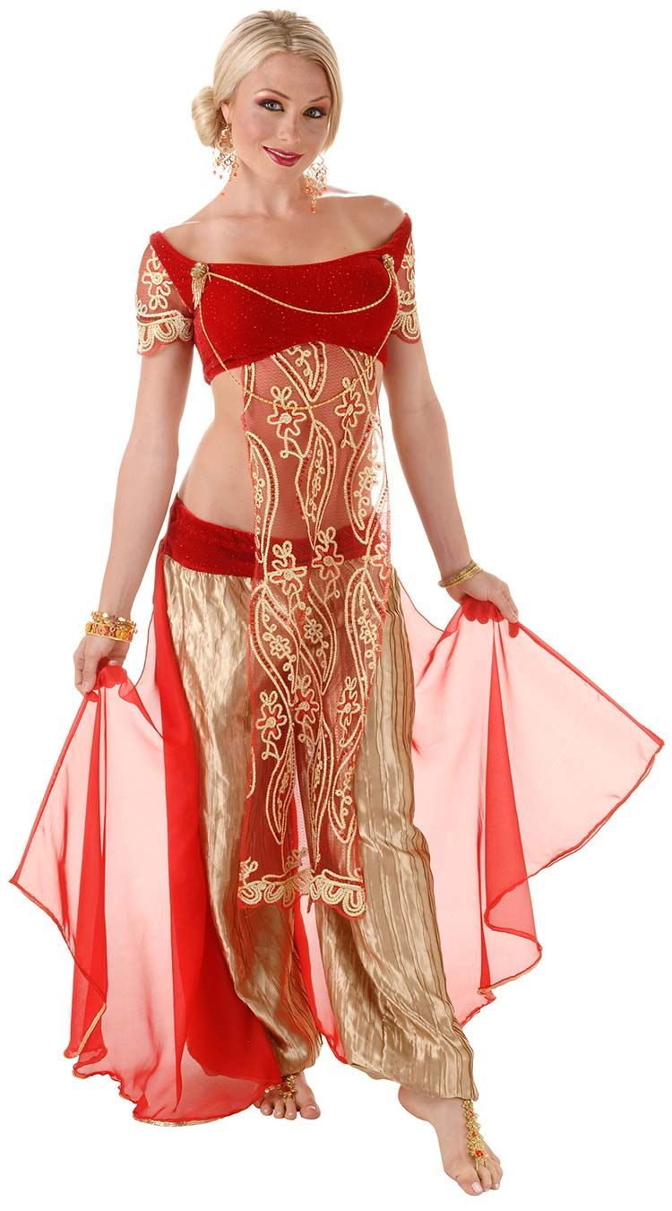 belly dancer costume Deluxe ruby
