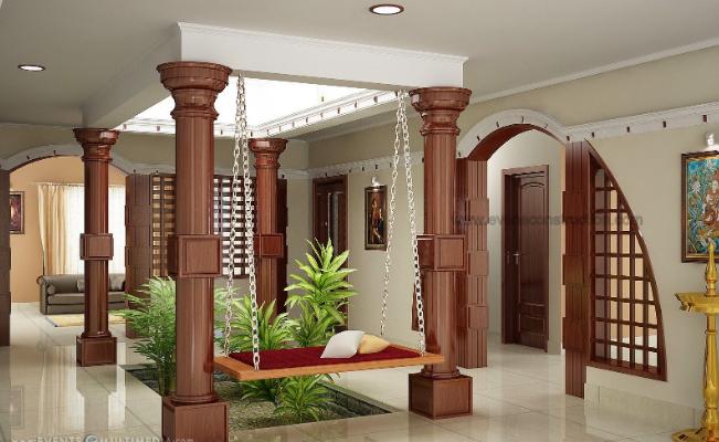 contemporary house interior design in kerala