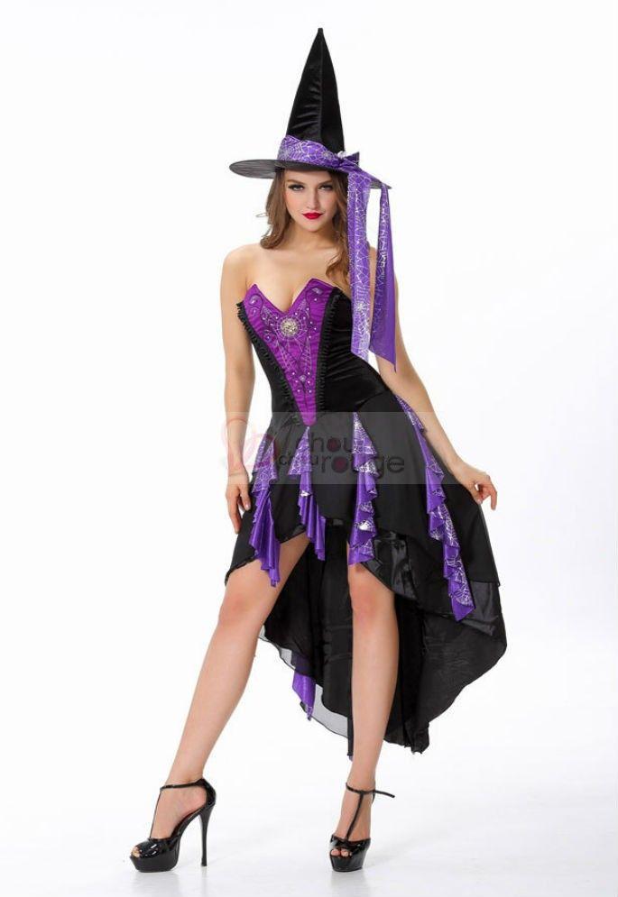 Halloween costume sorcière sorcière gothique sorcière costume violet