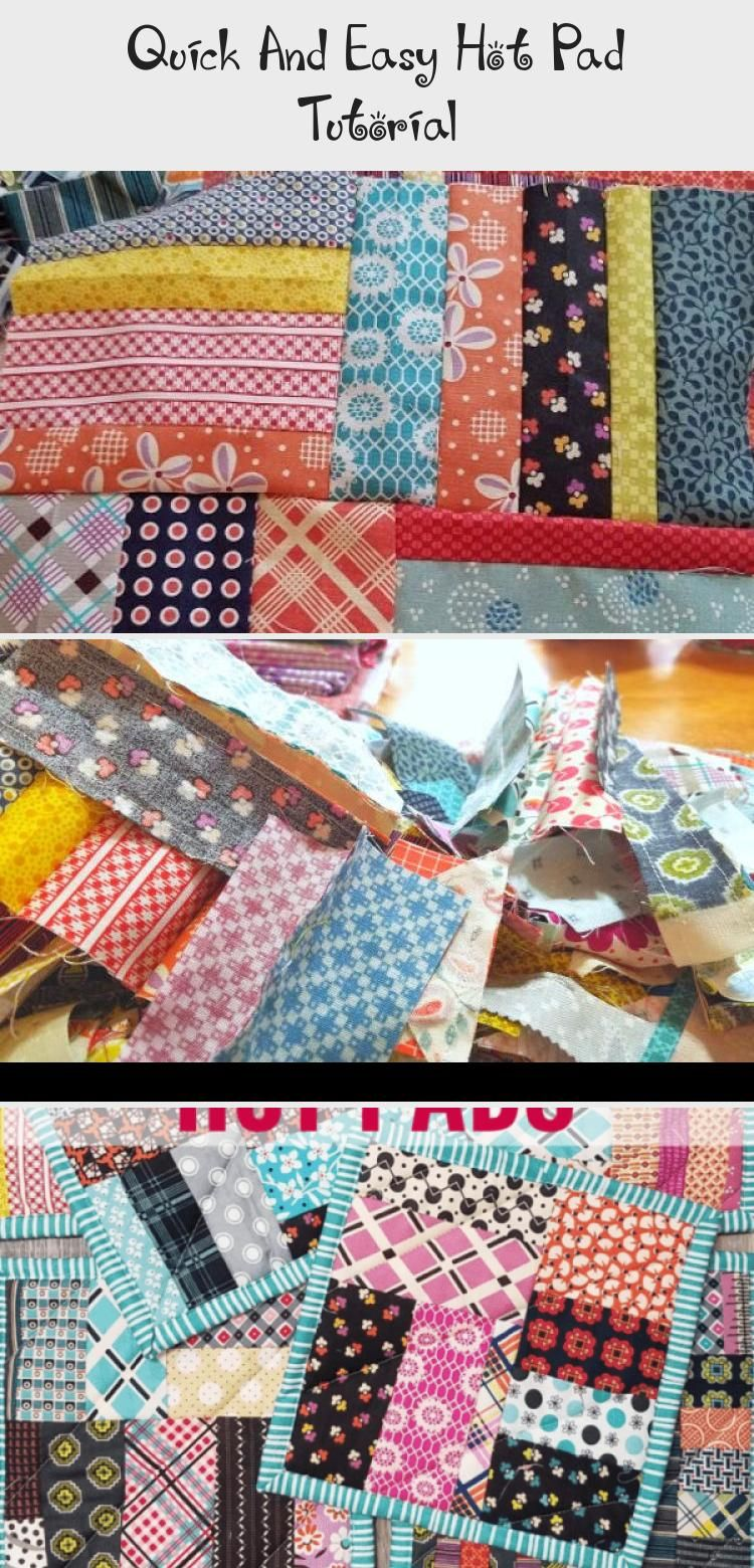 Quick and Easy Hot Pad Tutorial  This quick and easy hot pad tutorial is great for using those leftover scraps from other projects Make something useful out of leftovers