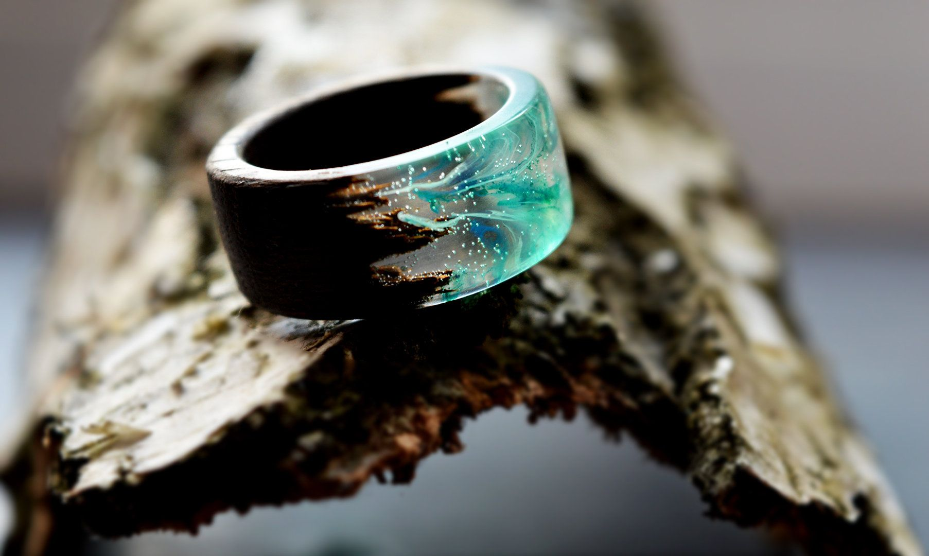 gold epoxy resin ring Wood Rings Womens rings, Anniversary rings wooden engagement men ring galaxy ring Handcrafted Wooden rings