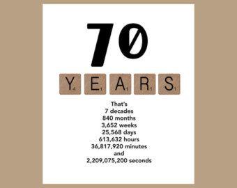 70th Birthday Card The Big 70 Age Card 70 Birthday 70 Card 70th