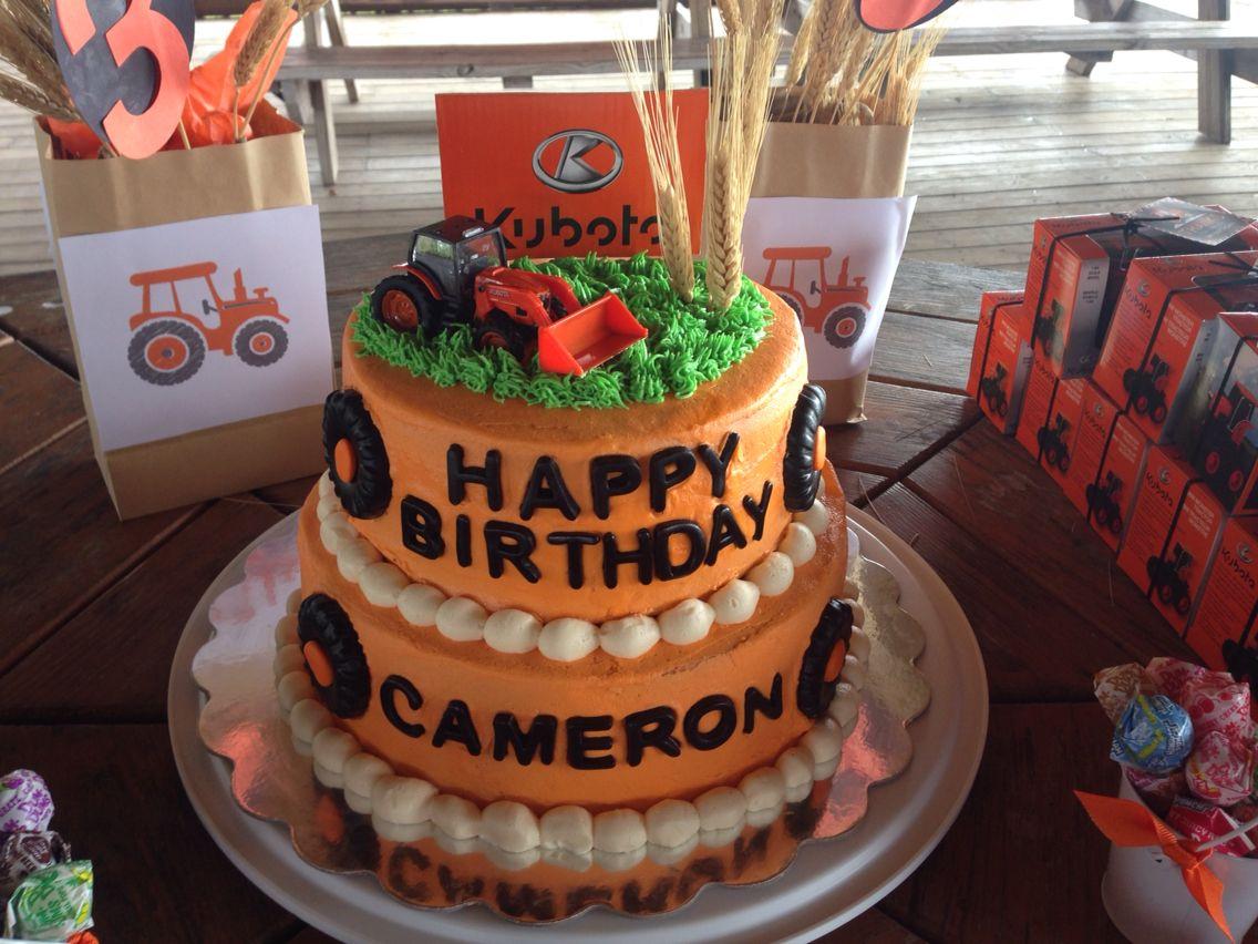 Kubota tractor cake Happy 60th birthday