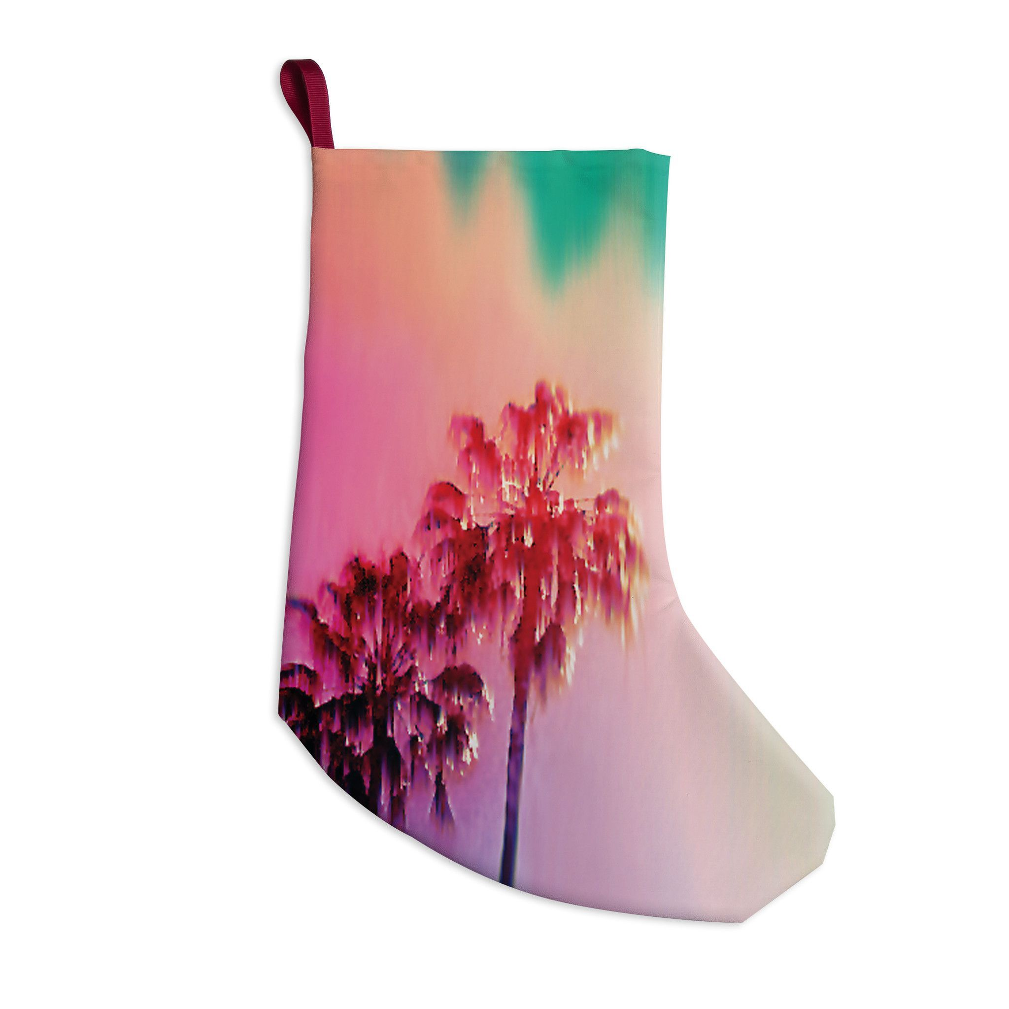 "Nina May ""LA Rainbow"" Pink Blue Christmas Stocking"