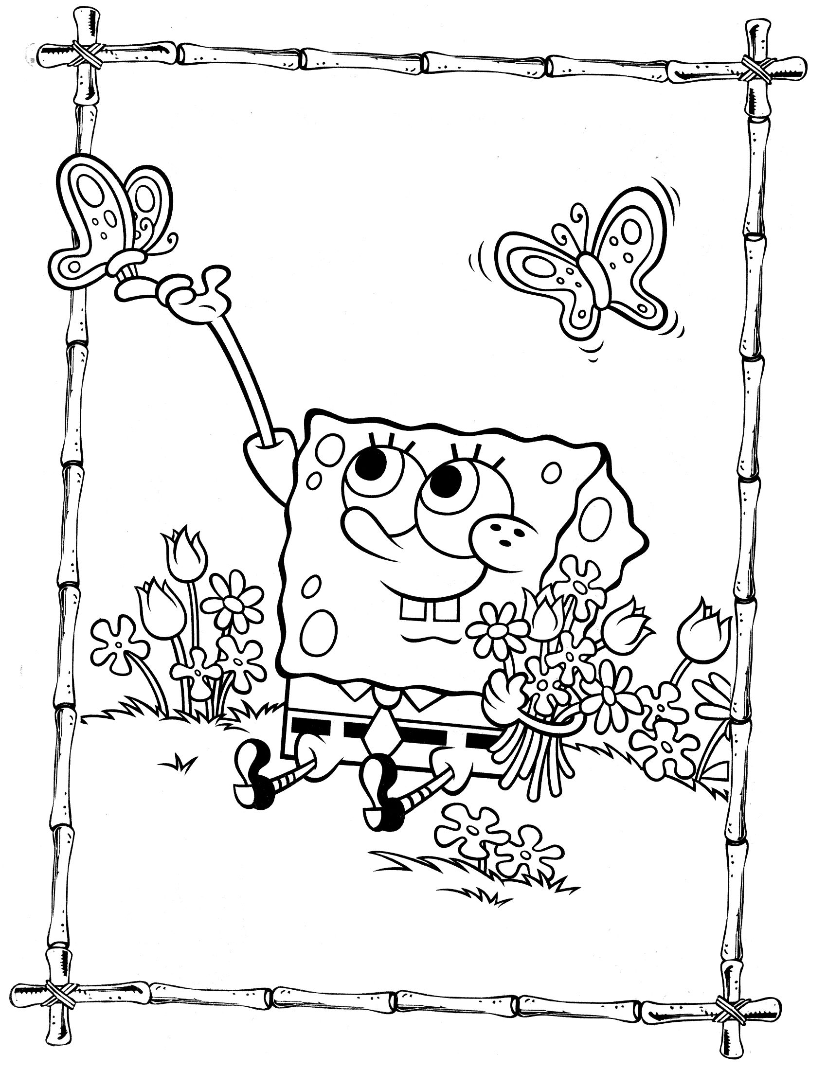 Spongebob coloring page coloring pages miscellaneous pinterest