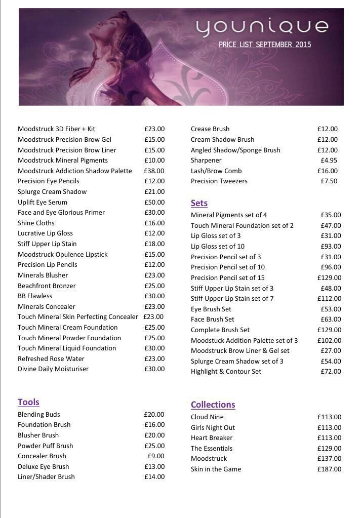 Younique price list UK Younique, Brow liner