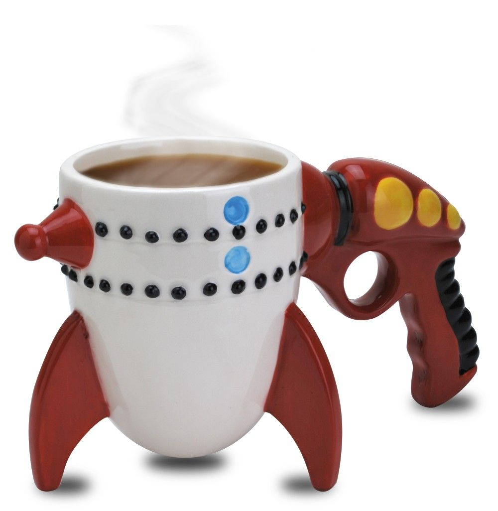 Retro Ray Gun Rocket Mug Unique Mugs Pinterest