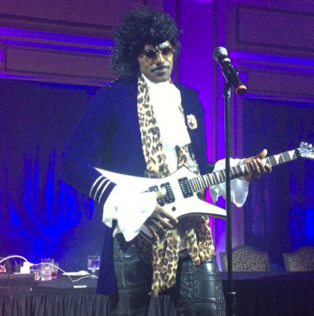"""""""Lebron James is 6'8"""". Prince is 5'2"""". Nevertheless, James does a pretty good Prince."""" Check out the video at the link below. http://gawker.com/lebron-james-actually-makes-a-pretty-fabulous-prince-1739901182"""
