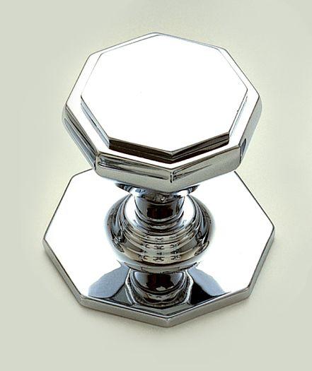 single step octagonal centre door knob centre door knobs