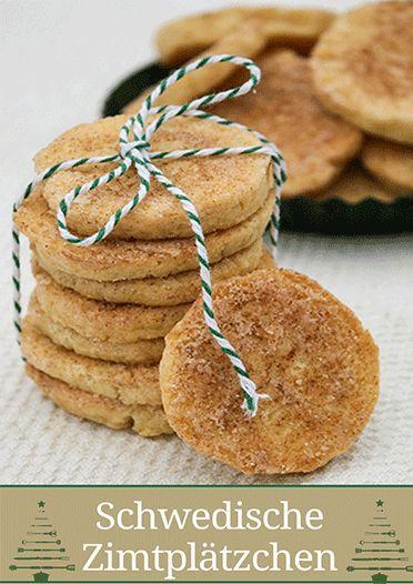 Schwedische Zimtplätzchen – Kanelkakor #cinnamonsugarcookies
