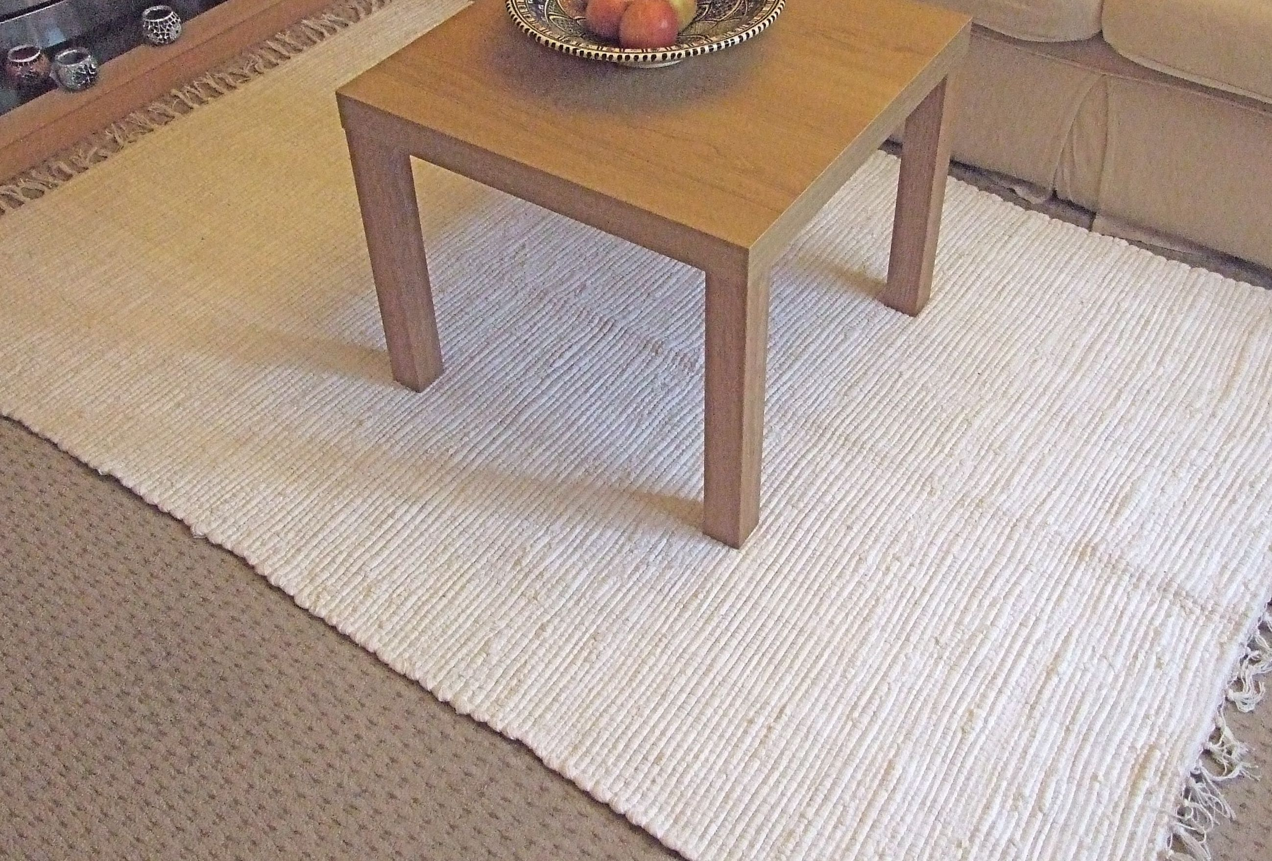 For The Neutral Understated Look Recycled Cotton Rag Rugs Overdyed In Lovely Cream 3 Sizes From Www Aswedishhome Co Uk