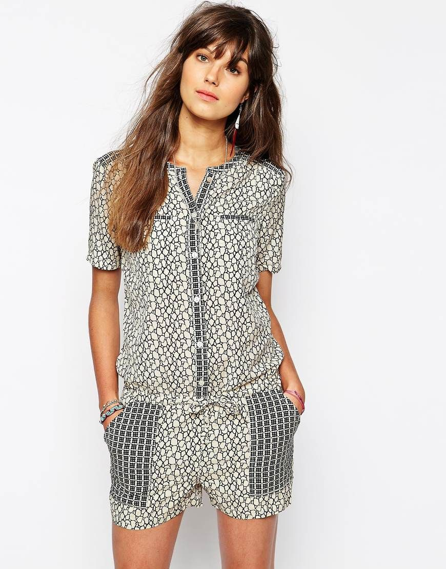 Image 1 of Maison Scotch Romper with Pockets
