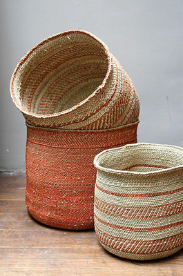 African Baskets - love the colors