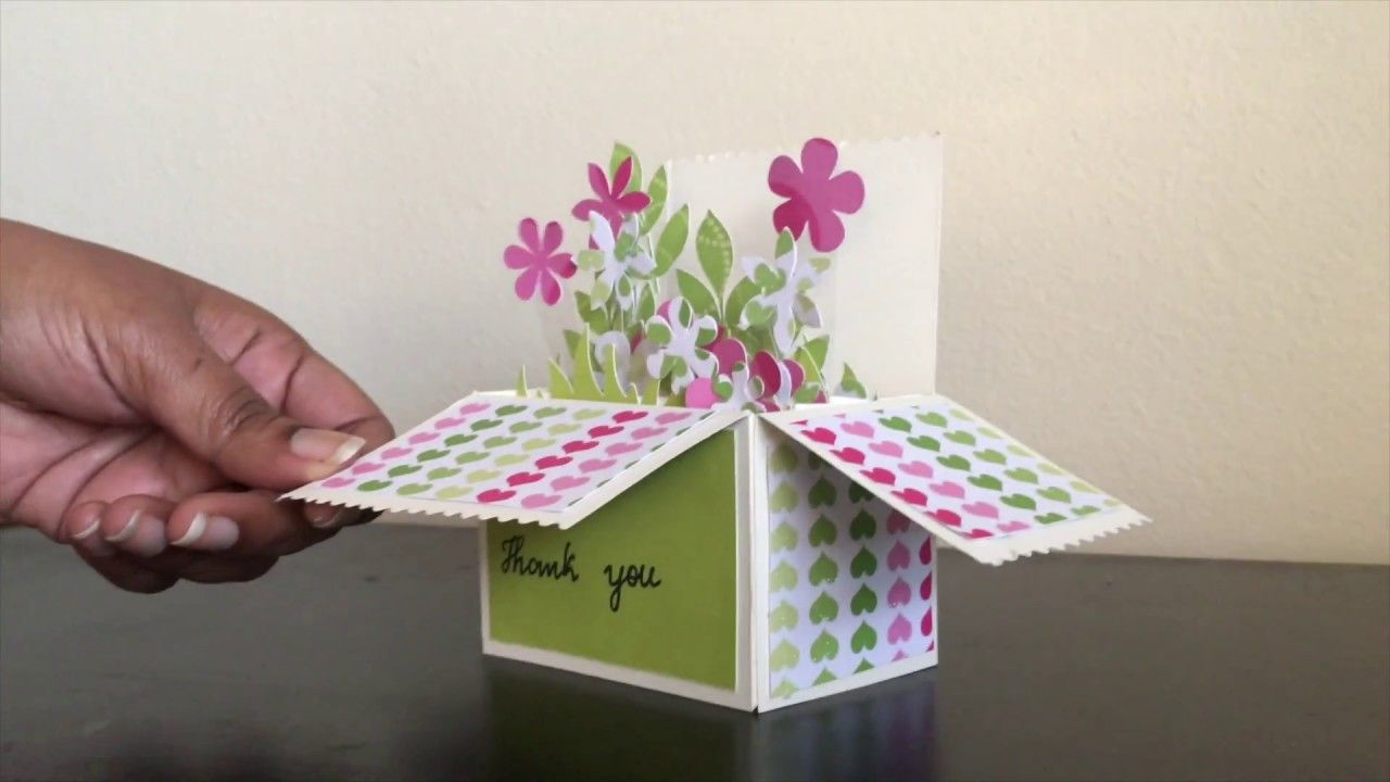 Pop Up Flower Box Card Crafts Pinterest Flower Boxes Flower