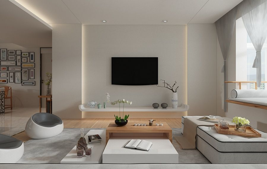 A Beautiful 2 Bedroom Modern House With Zen Elements Zen House Interior Design Living Room Small Modern Home
