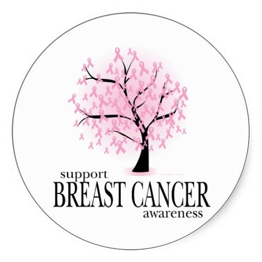 Breast cancer tree stickers