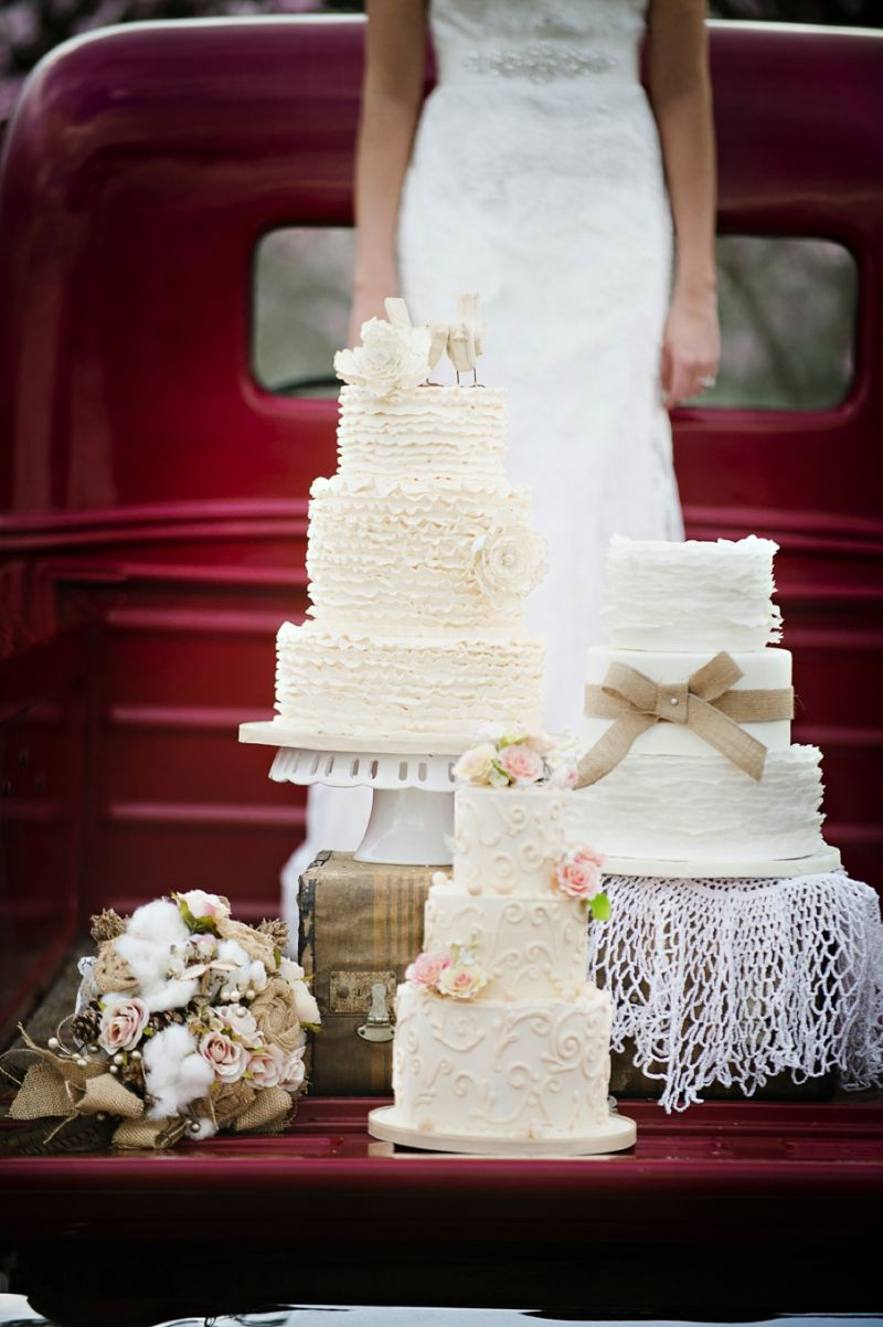 Rustic wedding cake ideas cotton bouquet rustic wedding cakes and