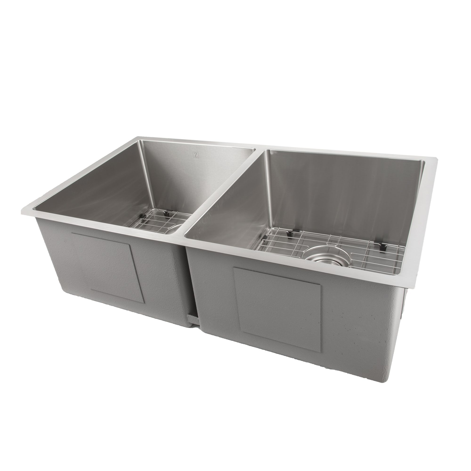 Zline Executive Series 33 Inch Undermount Double Bowl Sink In Stainless Steel Sr50d 33 Kitchen Sink Design Double Bowl Sink Kitchen Bath