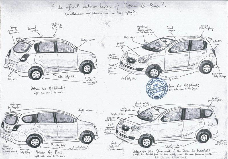 Desain Fix Datsun Go Asli C 2013 Pt Panca Datsun Nusantara Kartun