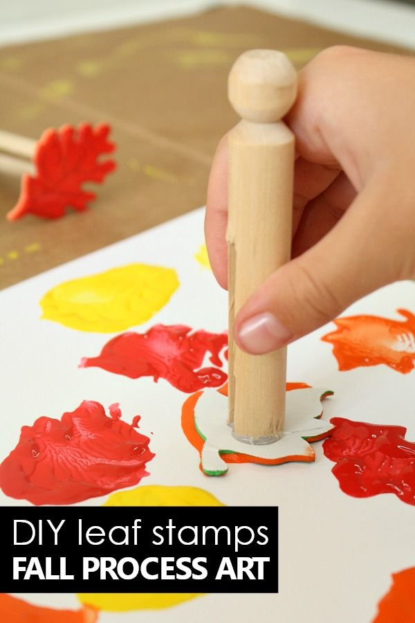 DIY Fall Art Stamps for Kids - Fantastic Fun & Learning
