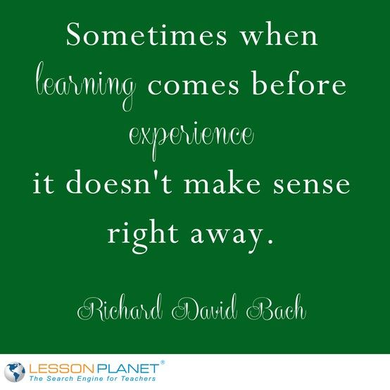 Sometimes when learning es before experience it doesn t