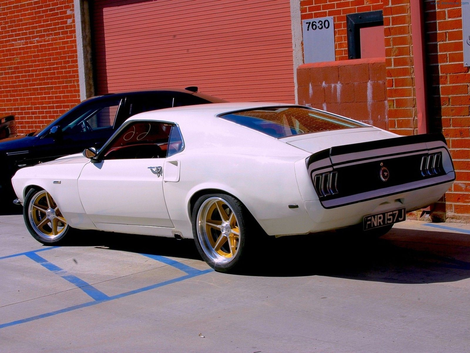 1969 Ford Mustang Rear Angle Fast & Furious 6 Car