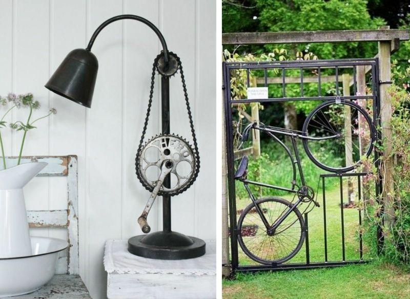 idee f r eine lampe aus dem fahrradpedal und ein tor mit. Black Bedroom Furniture Sets. Home Design Ideas