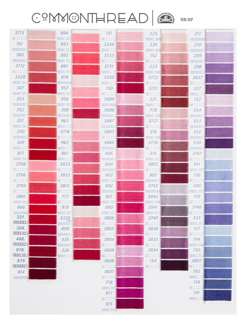 10 essential embroidery color conversion charts embroidery thread embroidery thread conversion charts help you find corresponding color numbers from other manufacturers find charts for dmc anchor cosmo and more geenschuldenfo Gallery