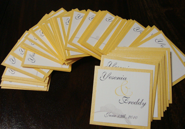 Stationery - Yellow Topaz Favor Tags