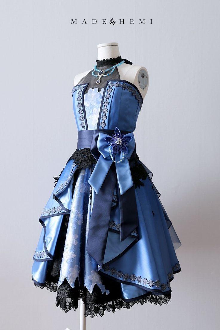 dark blue and black lace princess dress | กอธิคลอลิต้า