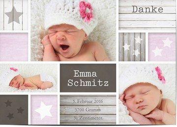 dankeskarten zur geburt baby gestalten w hlen sie ihre. Black Bedroom Furniture Sets. Home Design Ideas