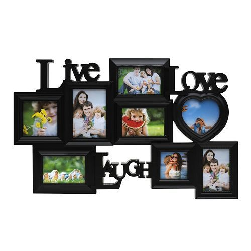 Melannco 8 Opening Live Laugh Love Collage Frame Love