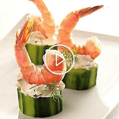 in Cucumber Cups Recipe | Shrimp in Cucumber Cups Recipe |