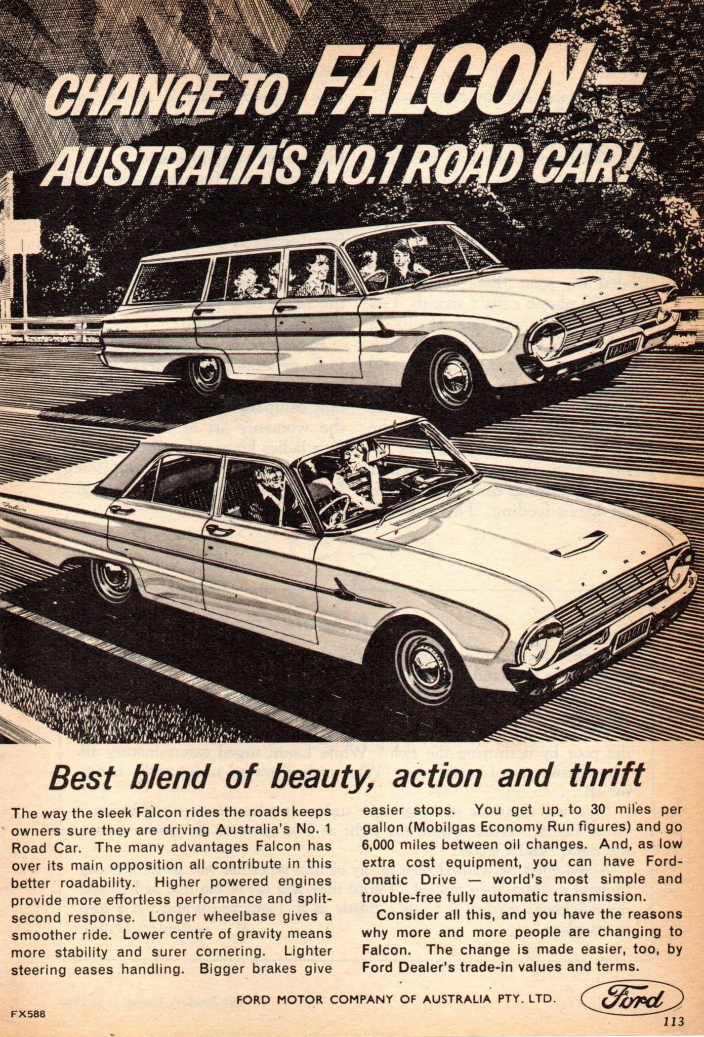 1963 Xl Ford Falcon Sedan Wagon Aussie Original Magazine Australia Engines Advertisement Pinterest Falcons And