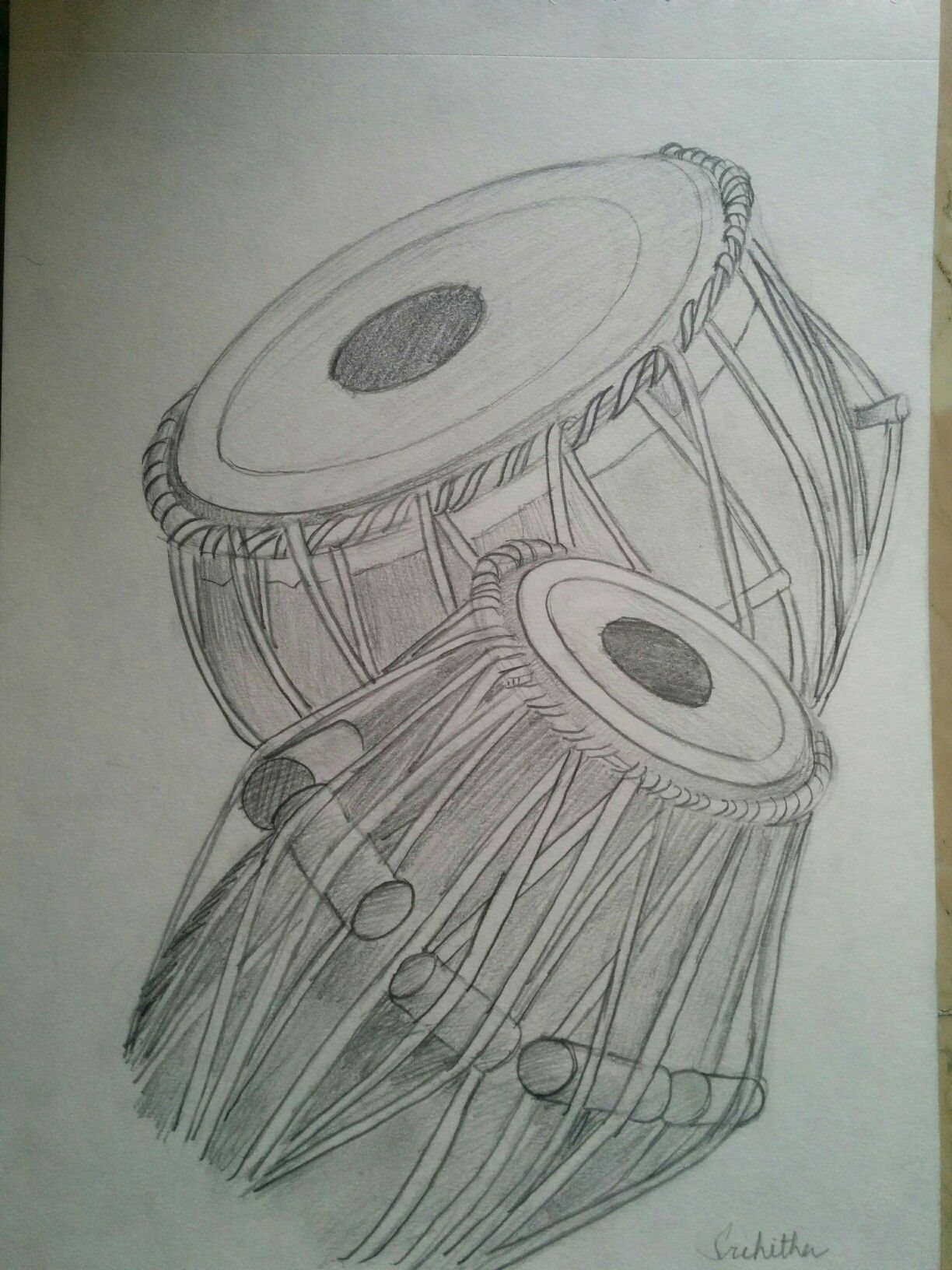 Tabla pencil shading